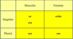 ماهي استخدامات صفات الاشارة les adjectifs démonstratifs