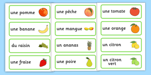 اسماء الفواكه بالفرنسية بالصور